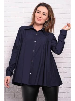 Джинсовая расклешенная рубашка Джесика
