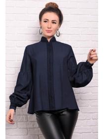 Джинсовая рубашка с кружевом Анастасия