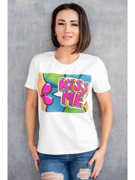 Красивая футболка женская Kiss