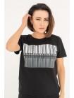 Молодежная футболка с принтом ШтрихКод