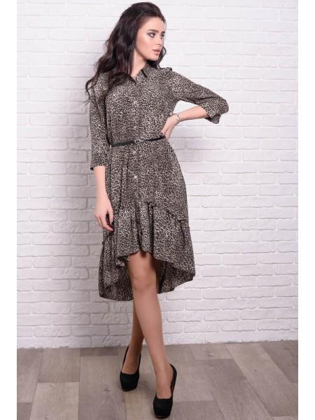 Модные платья с леопардовым принтом Флора