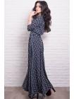 Длинное платье в горошек Ванесса