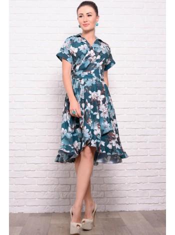 Платье на запах Бланка с цветами