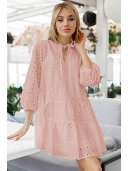 Летнее платье из прошвы Натали