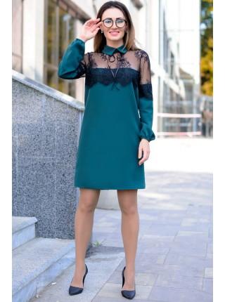 Однотонное платье для офиса Бланш