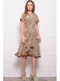Летнее платье Бланка с леопардовым принтом
