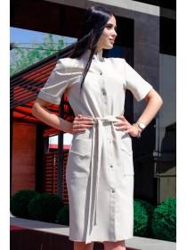 Льняное платье тренч  Конкор