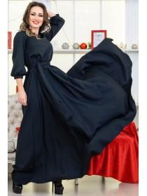 Длинное однотонное платье Ванесса