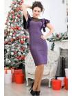 Нарядное платье с люрексом Флорис