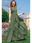 Длинное однотонное платье Ларис, 7 цветов