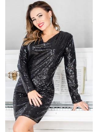 Нарядное платье с пайетками Блиц