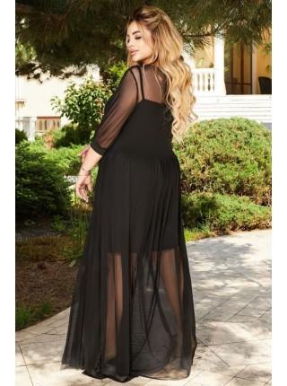 Длинное платье с сеткой Мейсон