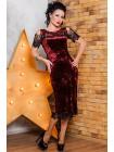 """Велюровое коктейльное платье """"Стелла"""""""