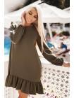 Короткое платье с оборкой Розалия