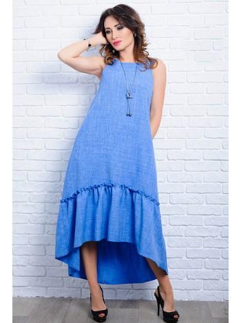 Льняное летнее платье Гортензия  до р.60