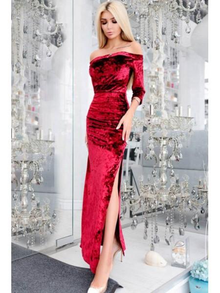 Облегающее вечернее платье макси Кармела