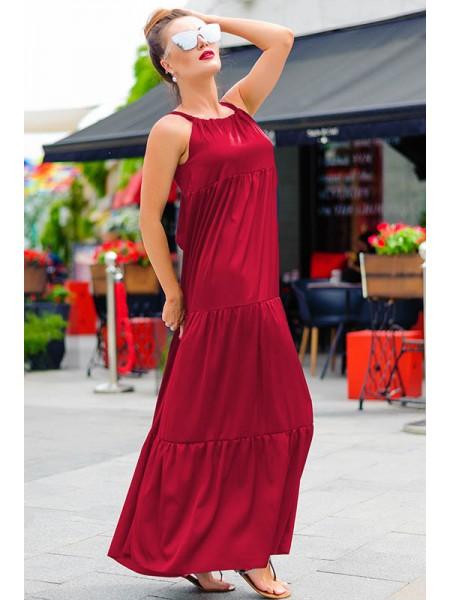 Длинное  шелковое платье Кимберли до р.60
