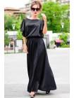 Длинное шелковое платье Шерлиз до р.60