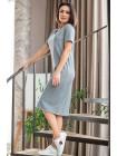 Однотонное трикотажное платье Рибана