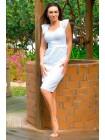 Облегающее летнее платье из прошвы Ирен