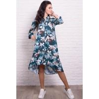 Летнее платье с лилиями Флора