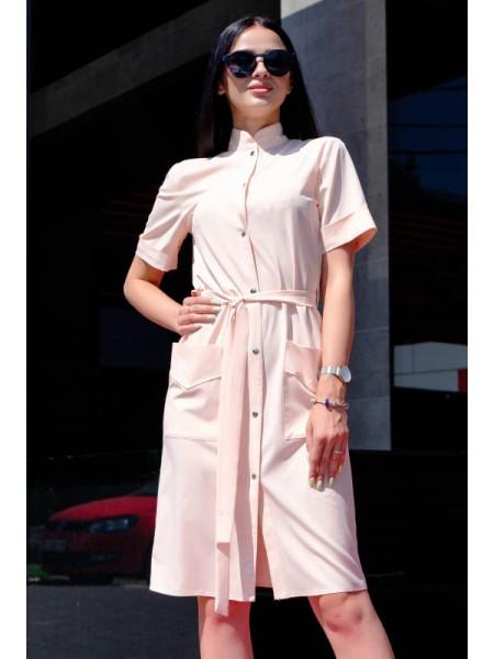 Стильное платье на кнопках Конкор