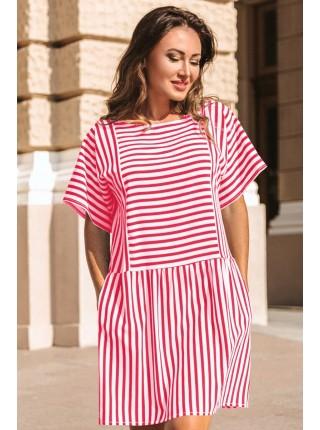 Женское модное платье в полоску Авалон