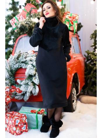 Теплое платье на меху Эмбра