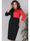 Прямое комбинированное платье Кларис