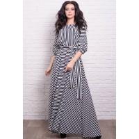 Длинное платье  Ванесса в полоску