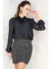Короткая  твидовая юбка Пармель