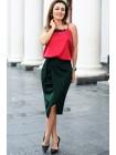 Трикотажная юбка на запах Бони