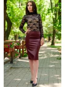 """Женская юбка из искусственной кожи """"BULGARI"""""""