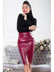 Женская юбка из экокожи Карина