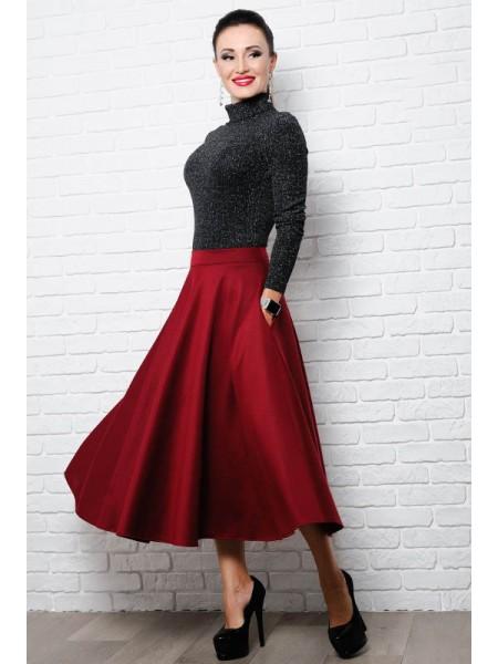 Длинная расклешенная юбка Мелисса