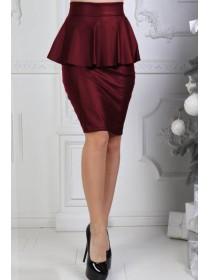 Кожаная юбка с баской Айла