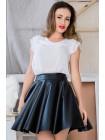 Мини юбка из экокожи 45 см.