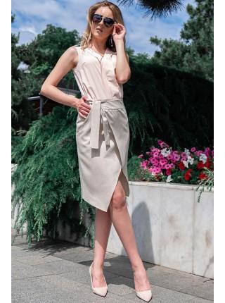 Льняная юбка на запах Бони