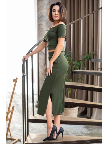 Длинная трикотажная юбка Иллона