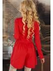 Женское красное платье-шорты