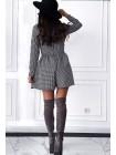 Женское платье-шорты гусиная лапка