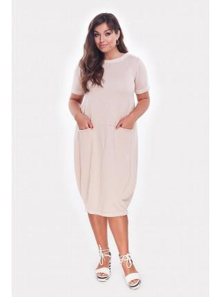Батальное трикотажное платье Мемфис